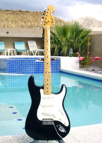 Ritchie Blackmore Black Stratocaster with Maple Neck