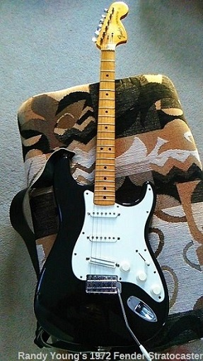 Black Fender Stratocaster Guitar
