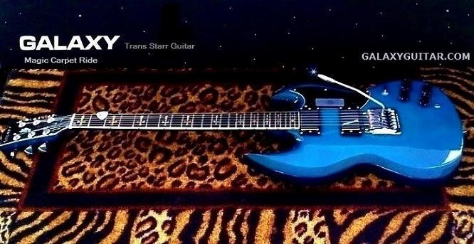 Galaxy Trans Blue Guitar