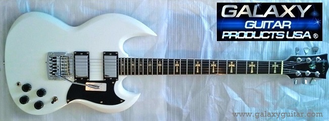 Galaxy White Trans Starr Guitar